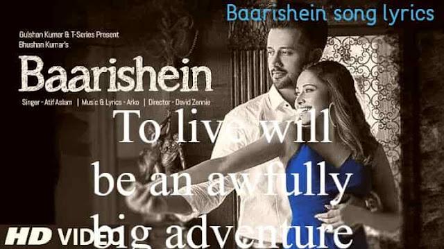 BAARISHEIN Song lyrics