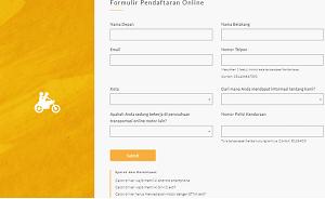 Lampiran Cara Daftar GOJEK Online Bandung