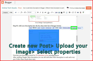 How to upload images and add alt text and title blogger