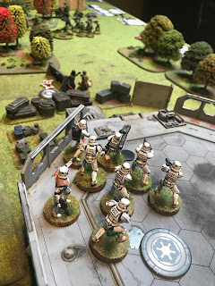 Stormtroopers fire at Rebels and cause huge casualties