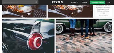 موقع pexels