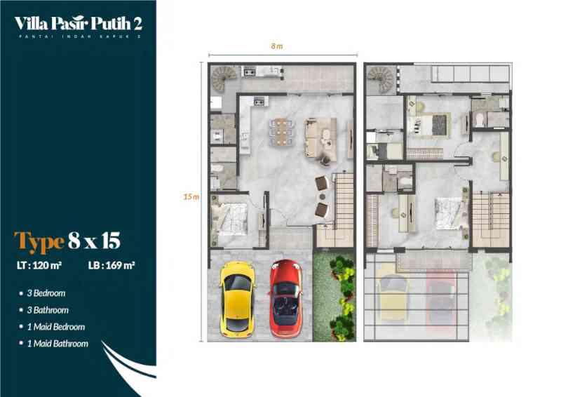 Denah Villa Pasir Putih 2 Tipe Meranti