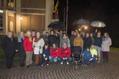Onze eerste actie voor het gemeentehuis op 23 februari 2016