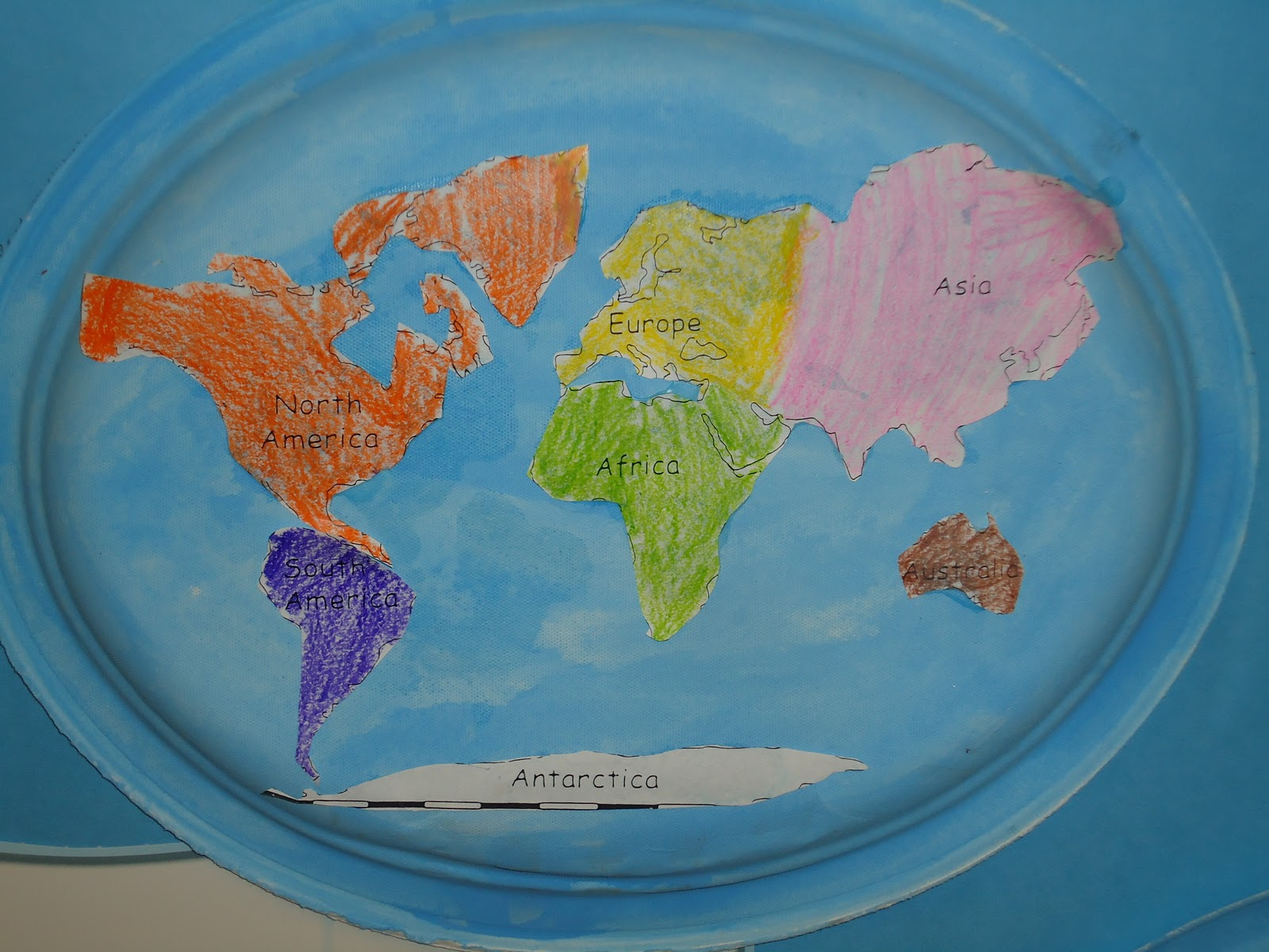 Literacy Minute Paper Plate Continent Cut Outs