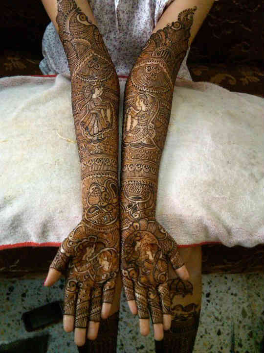 Mehndi Ceremony Wishes : Best and simple bridal mehndi designs for hands indian