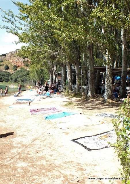 Una playa en Castilla La Mancha y Ruidera