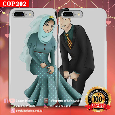 Gambar kartun vektor pernikahan islami menikah muslimah COP202