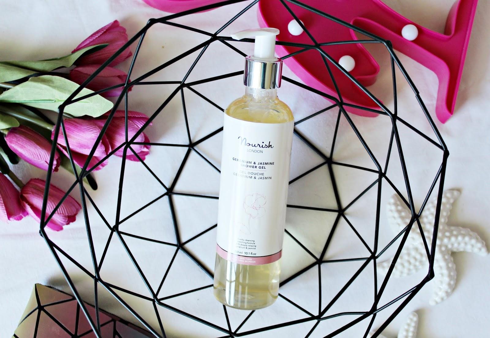 NOURISH London Geranium & Jasmine Shower Gel - Oczyszczający żel do ciała z geranium i jaśminem - COSTASY
