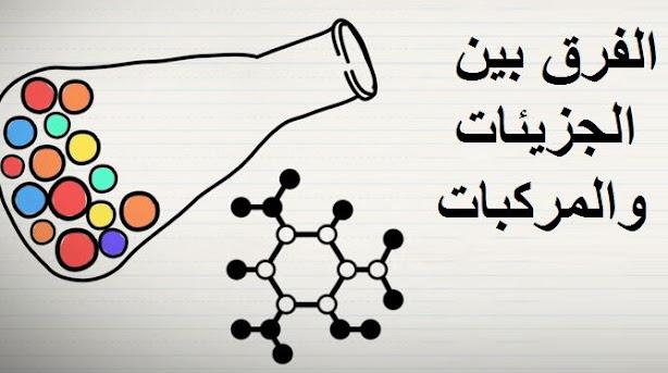 الفرق بين الجزيء والمركب