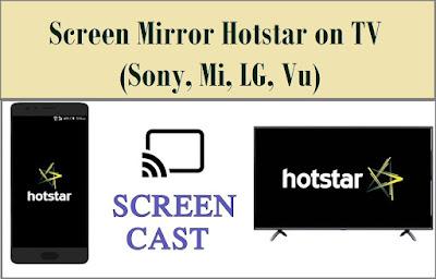 Screen Mirror hotstar on TV