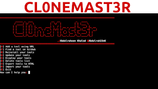 Cl0neMast3r - Find And Install Your Favorite Tools From Github Easier