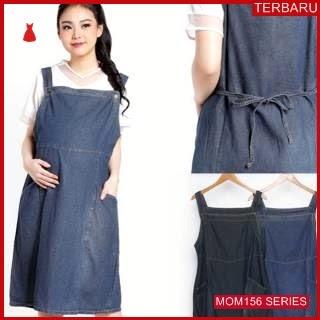 MOM156D12 Dress Hamil Menyusui Flateria Jeans Dresshamil Ibu Hamil