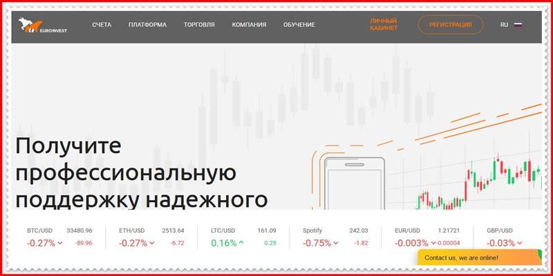 [Мошеннический сайт] euro1nvest.com – Отзывы, развод? Компания Euro1nvest мошенники!