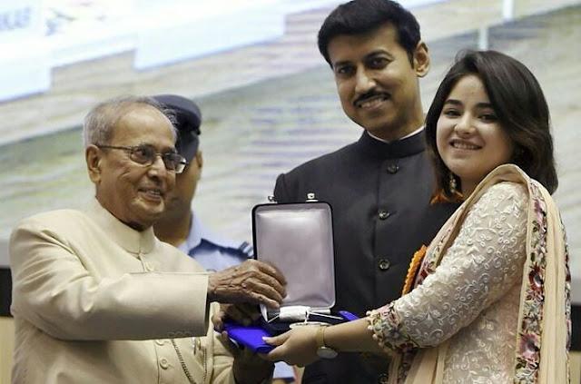 Zaira Wasim at the National Film Awards