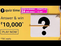 Amazon Quiz Answers Time Daily @ 24 HRS on 06 Mar 2021 Win 10,000