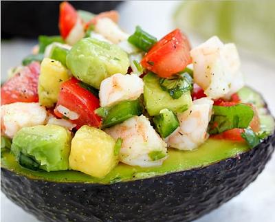 EASY AVOCADO SHRIMP CEVICHE RECIPE #veganfood