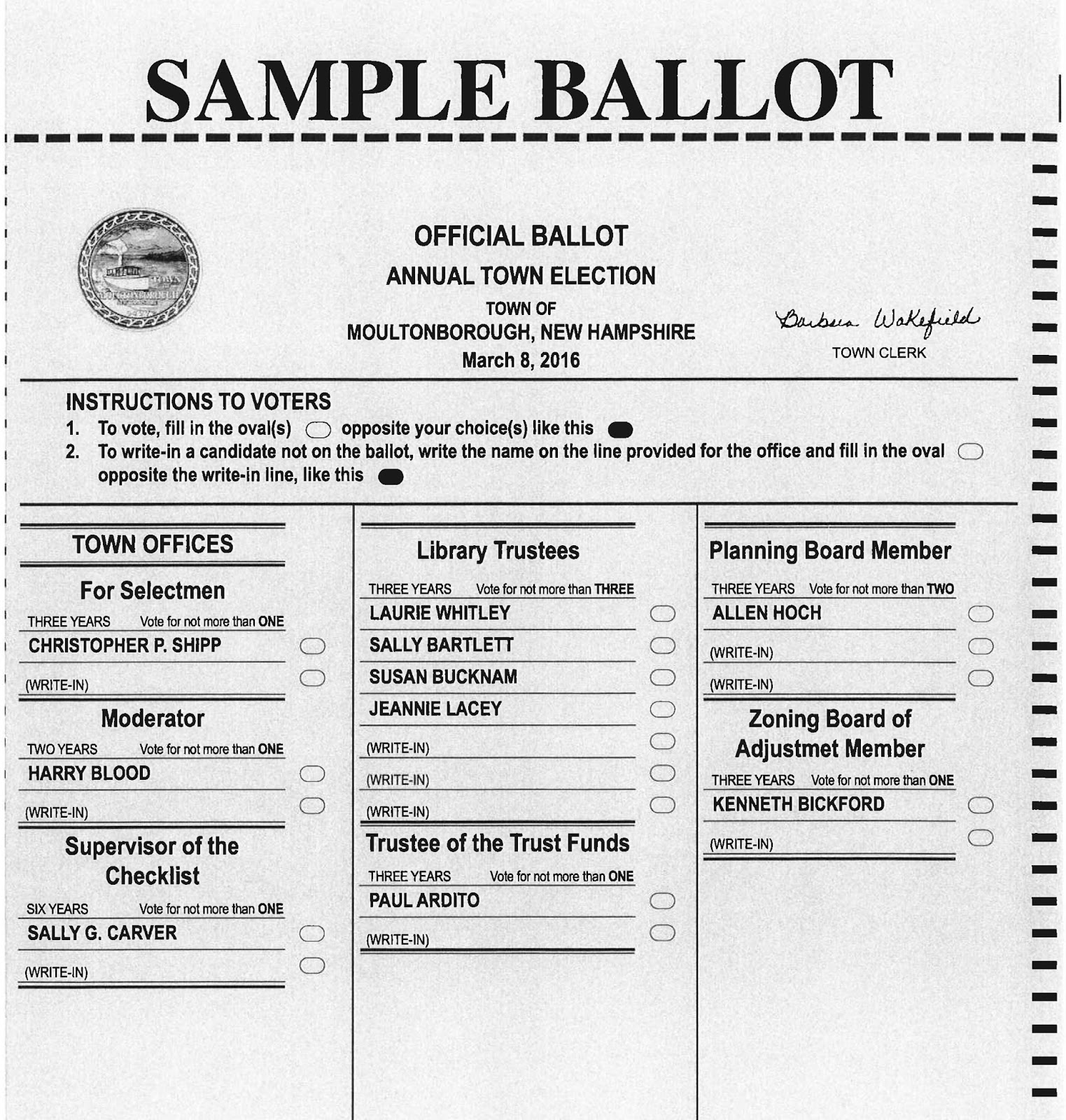 printable presidential election ballot | just b.CAUSE