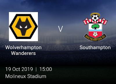 LIVE MATCH: Wolves Vs Southampton Premier League 19/10/2019