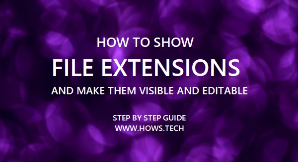 How to Show File Extensions in Windows