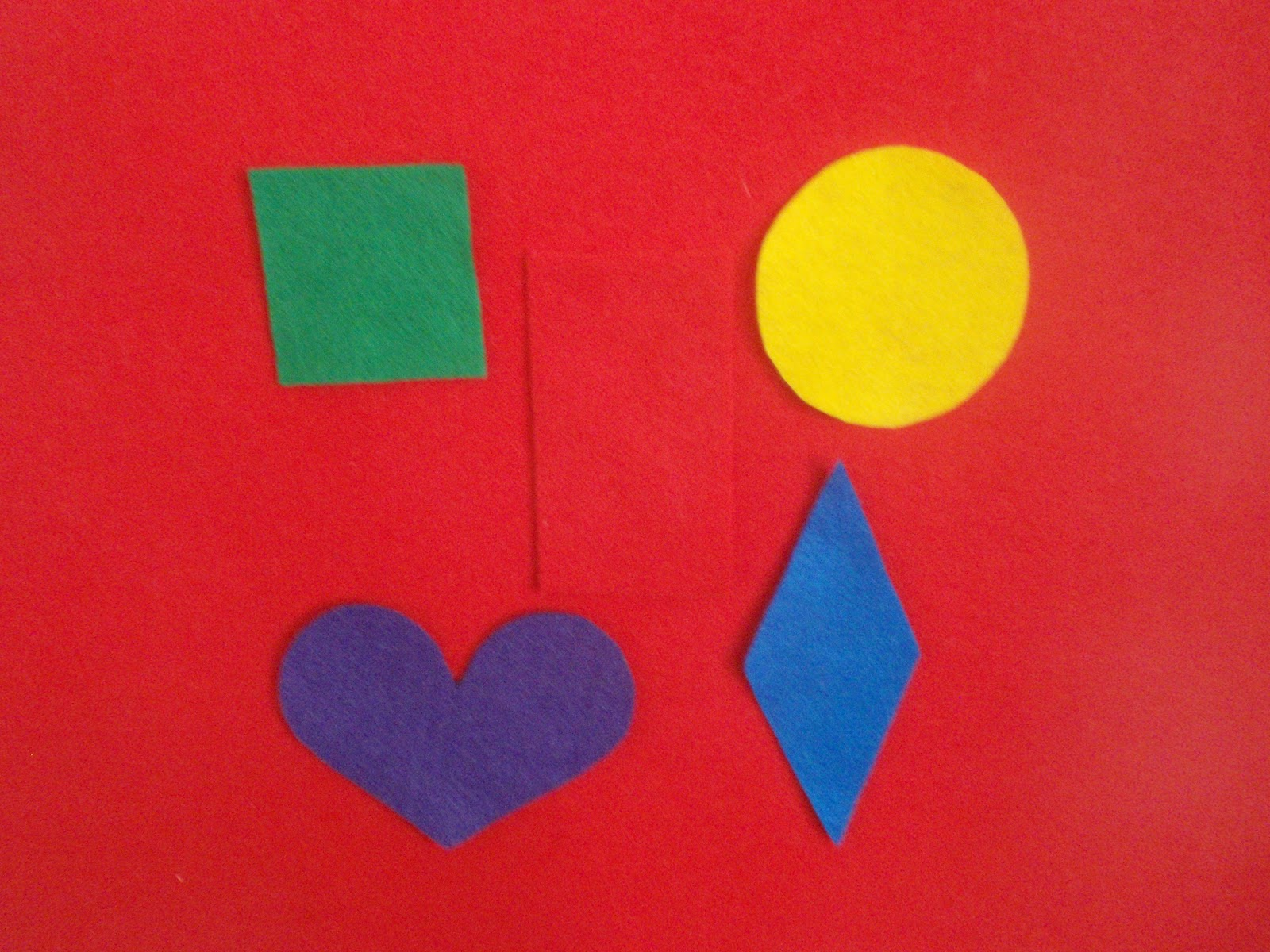 Learning Through Mom Shapes Colors Felt Board