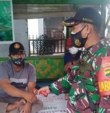 PPKM Skal Micro Diwilayah Binaan Dilaksanakan Personel Jajaran Kodim 0207/Simalungun Bersama DInas Terkait
