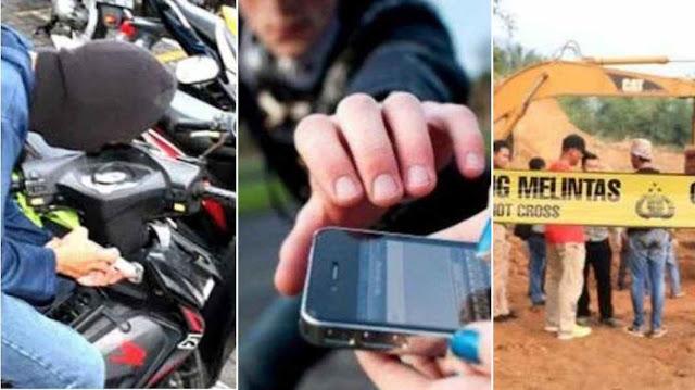Kado HUT Bhayangkara, Polisi ungkap Kasus Pencurian Motor, Jambret dan Kasus Penambangan Ilegal