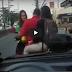 Actual Footage: Lady traffic enforcer, sinagasaan ng sinitang rider na nagpakilala pang pulis