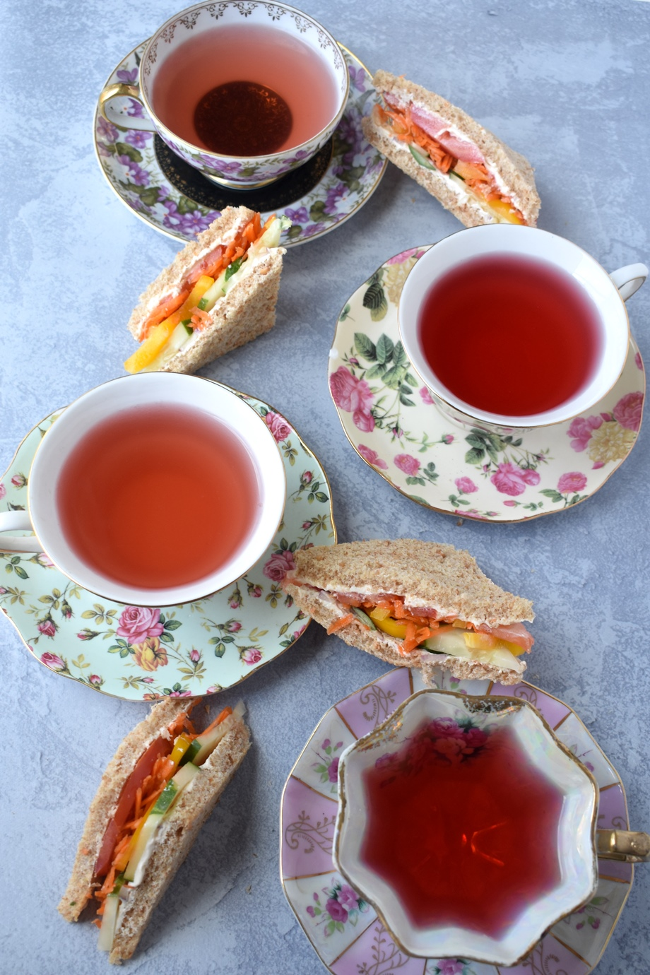 Vegetable Cream Cheese Tea Sandwiches