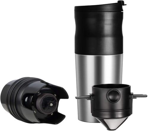 ChefGiant Portable Coffee Grinder Brewer Mug