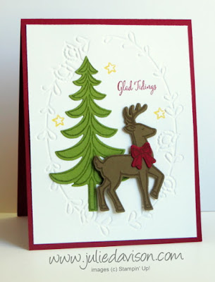 Stampin' Up! Santa's Sleigh Christmas Card #stampinup 2016 Holiday Catalog www.juliedavison.com