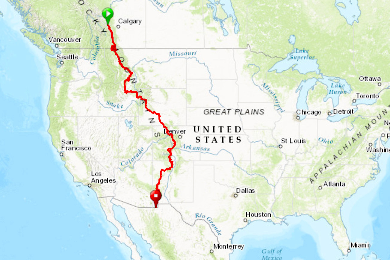 The Tour Divide Mountain Bike Route