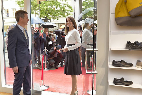 Crown Prince Frederik and Crown Princess Mary of Denmark visited Holsten Brewery in Hamburg, Germany