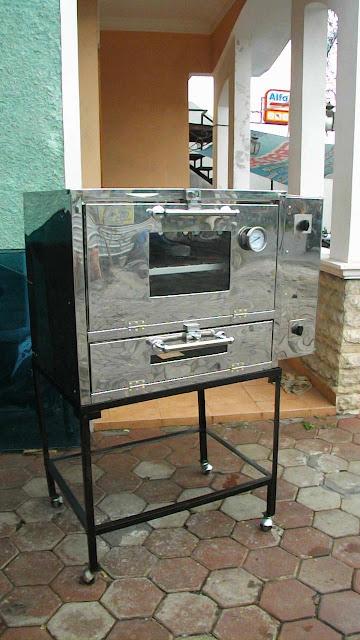 Oven Gas Roti dengan Pemantik Api