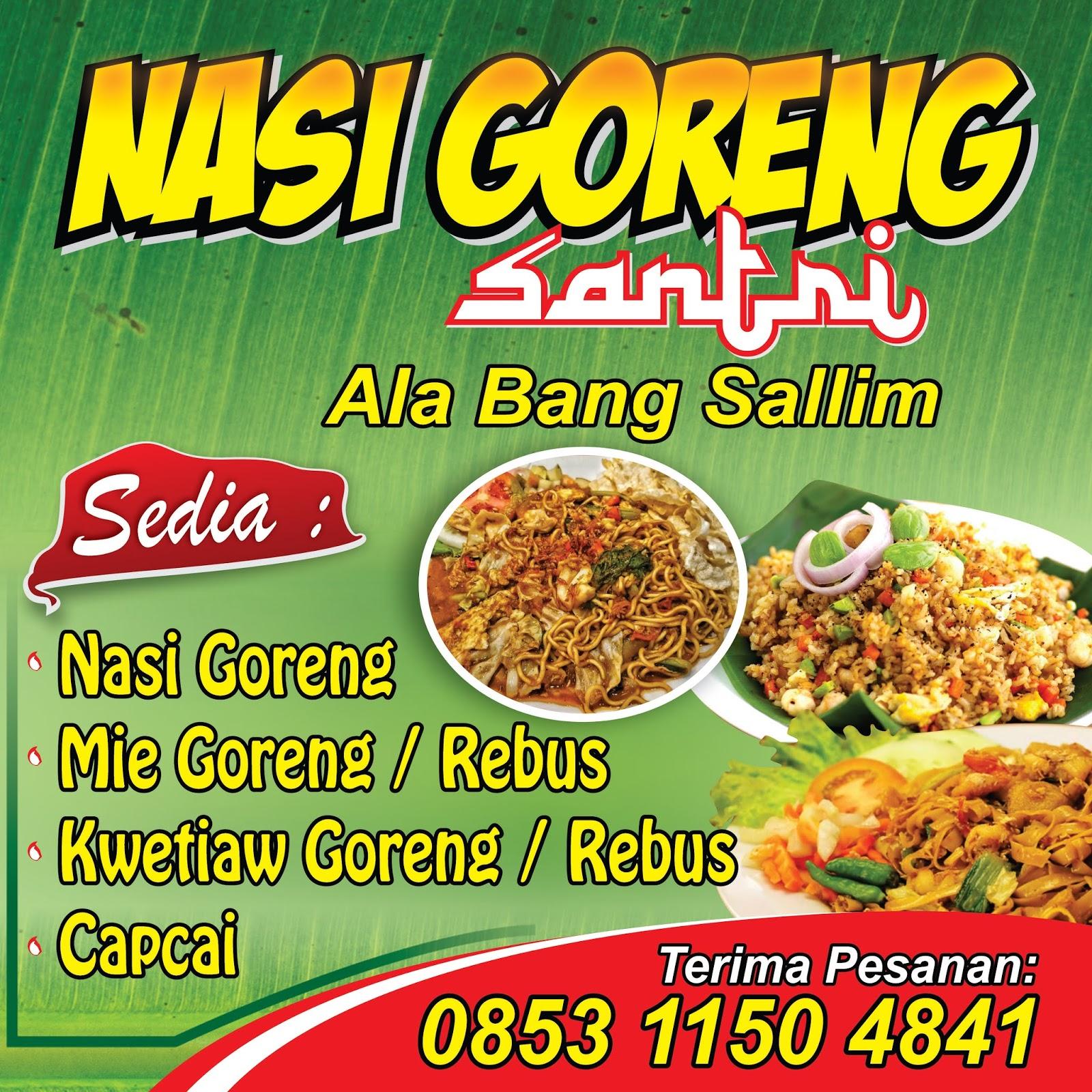 Contoh Banner Nasi Goreng Spesial