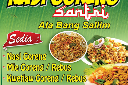 Cool Contoh Spanduk Banner Nasi Goreng