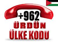+962 Ürdün ülke telefon kodu