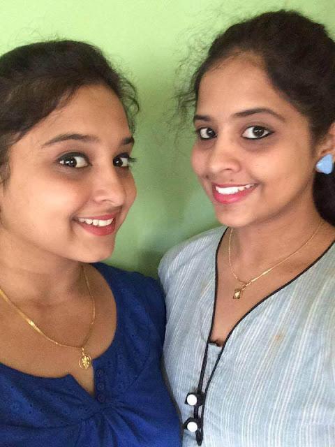 Chandana Ananta Krishna with her sister Chinmayee Ananta Krishna