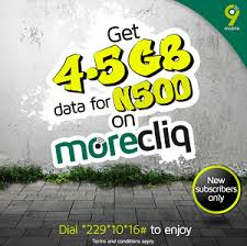 9mobile MoreCliq Tariff - Get 4.5GB Data for just N500