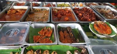 Banyak pilihan masakan lauk pauk