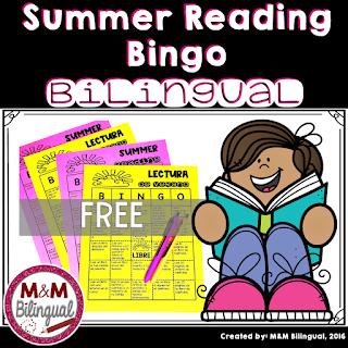 Bilingual summer bingo
