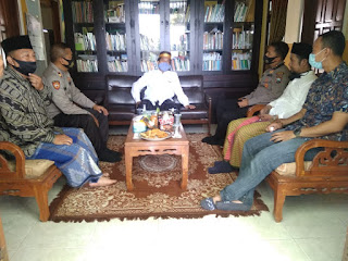 Jalin Sinergitas, Kapolres Jember Silaturahmi ke PCNU Kencong