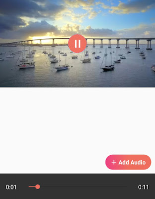 Add audio to video on Android