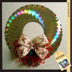 Enfeites para o natal com CDs 14