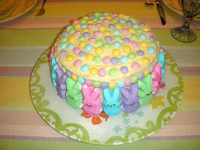 Margaret's Morsels | Marshmallow Peeps Easter Cake
