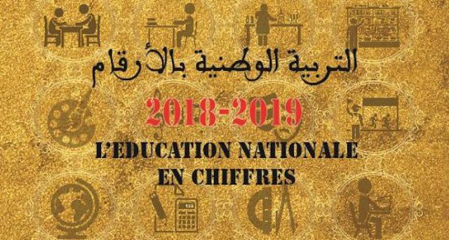 التربية الوطنية بالأرقام 2018-2019