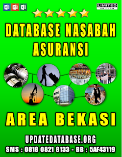 Jual Database Nasabah Asuransi Bekasi