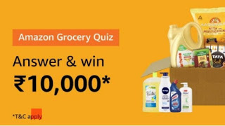 Amazon Grocery Quiz Answers 27th August 2019