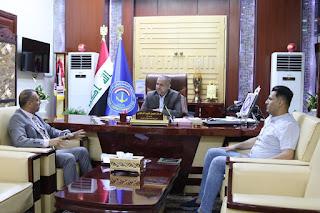 النقل تناقش مع جامعة البصرة آفاق التعاون المشترك بين الجانبين