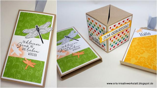 Pop-Up-Würfelkarte + Anleitung, Tutorial Stampin' Up! www.eris-kreativwerkstatt.blogspot.de