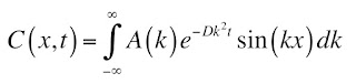 A solution to the diffusion equation in integral form.